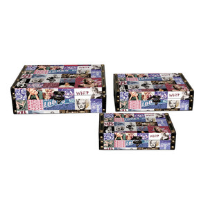 Fashion decorative fancy Marilyn Monroe storage boxes comes in set of three
