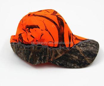 Unisex Military Outdoor Camouflage Baseball Caps Outdoor Sports Cap blaze  orange hunting hats 047917e981e