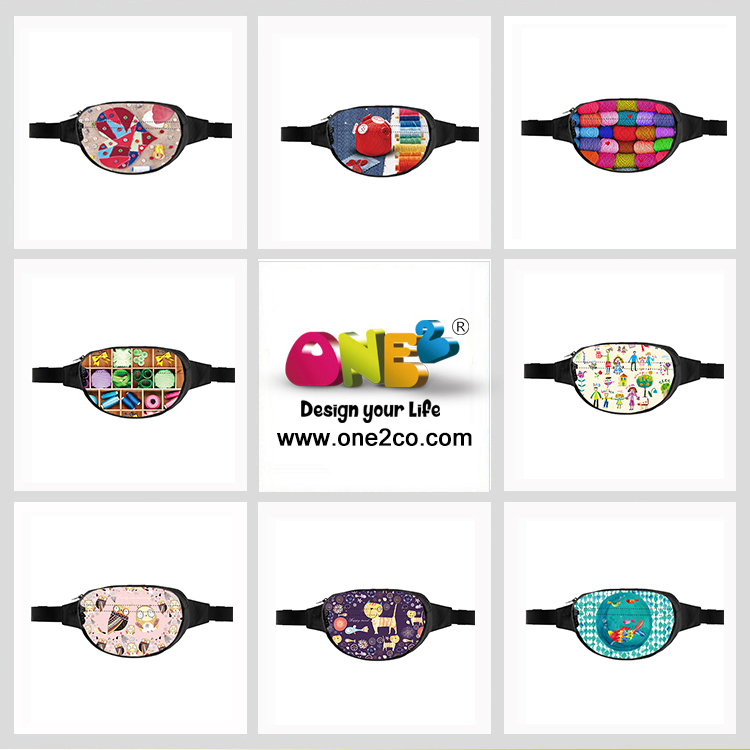 ONE2 Design Round Shape Waist Bags Cute Design Crossbody Bags for kids