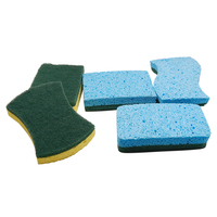 Commercial Colorful Kitchen Cleaning Polyurethane Sponge For Dish Wash