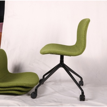 Pure and fresh style steel leg powdercoated modern office chair