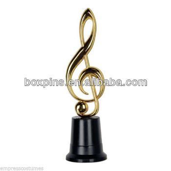 Custom Musical Symbols Gold Music Award Statu/ Trophy - Buy Gold Music  Award Trophy,Music Symbols Gold Trophy,Custom Gold Music Award Statu  Product on
