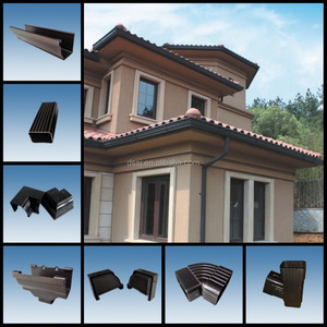 New design pvc roofing gutter and downspout,plastic building material pvc  rain gutter for house roof