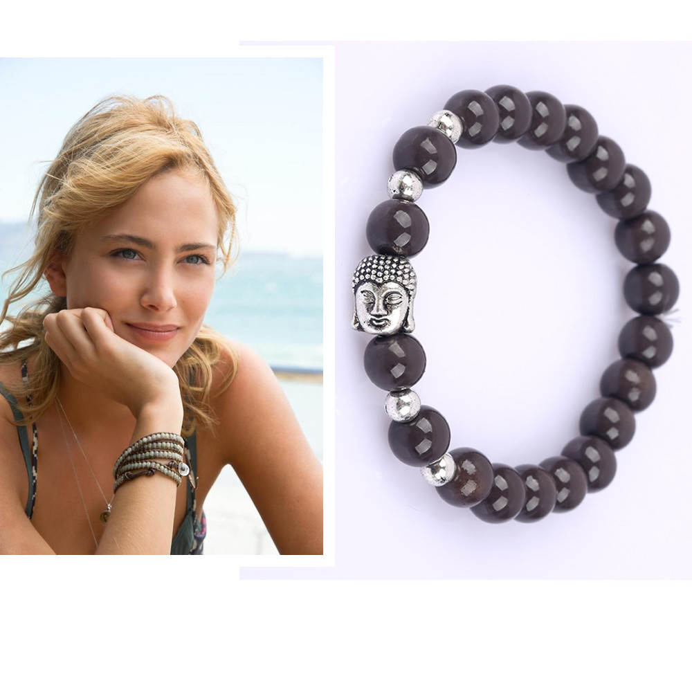 4b0734176c Get Quotations · beads buddha bracelet 6new color natural stone onyx buddha  bracelets Turquoise Onyx charm bracelets for women