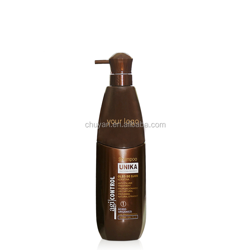 OEM/ODM natural shampoo brazilian keratin hair treatment shampoo for smoothing hair 850ml