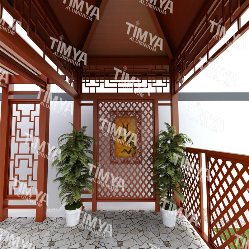 2015 nieuwste ontwerp moderne aluminium balkon pergola. Black Bedroom Furniture Sets. Home Design Ideas