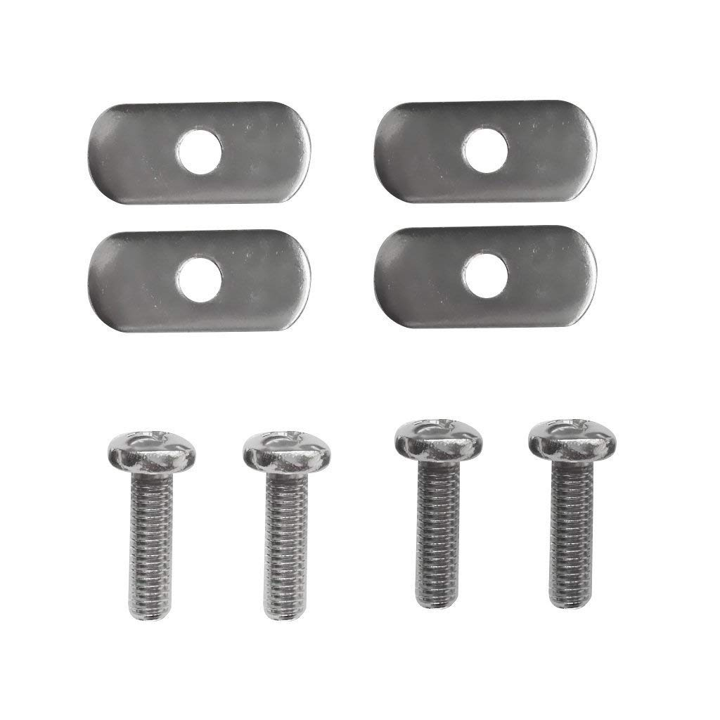 4 Sets Stainless Steel Kayak Rail/Track Nuts & Track Screws Hardware Gear Mounting Replacement Kit for Kayaks Canoes Boats Rails