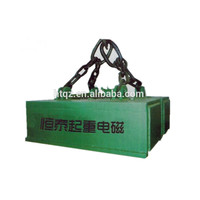 Powerful lifting electromagnet with long service life