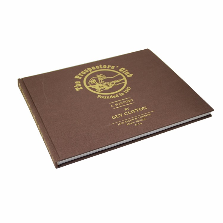 Wholesales China Custom personalized Fabric Book Cover gold hot stamping finish pattern hardcover book printing