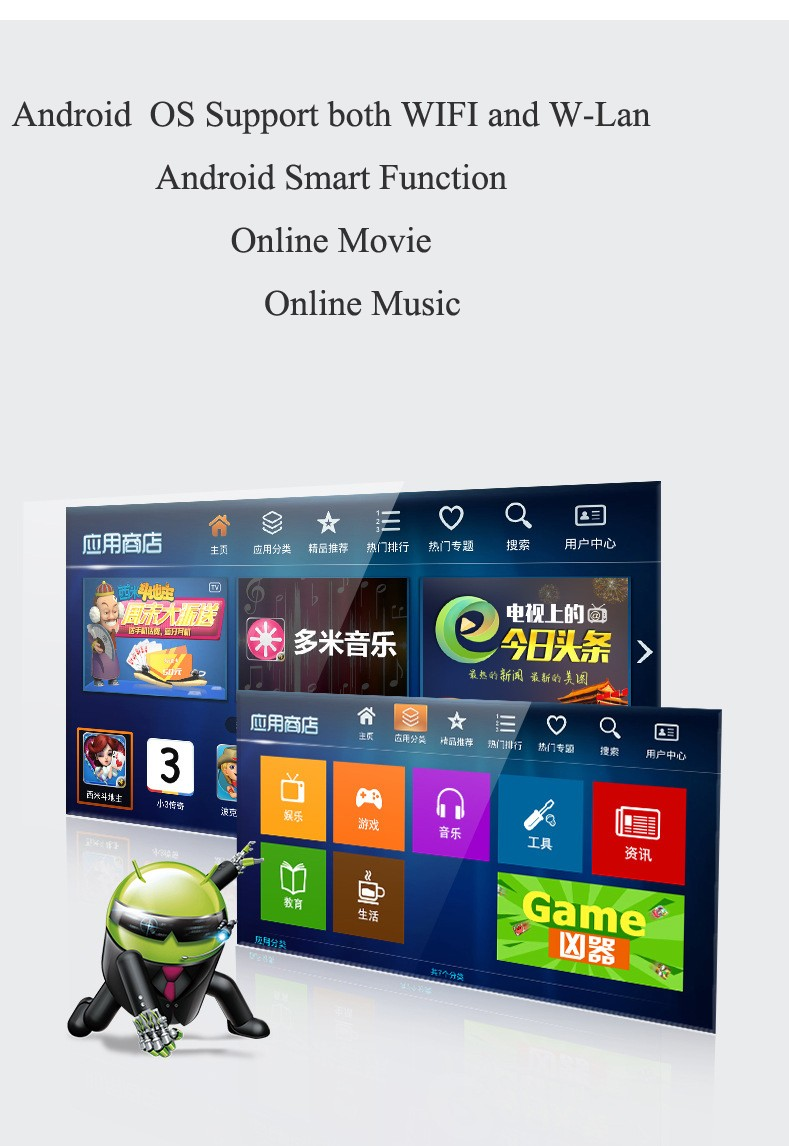 "32"" Smart LED TV with WIFI / 32"" Android Version Smart LED TV with WIFI/32"" Smart WIFI TV"