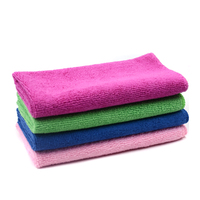 Stock lots microfibre souvenir towel 40x40 car wash microfiber household clean towel