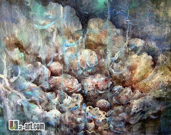 Dipinti Per Soggiorno : Texture dipinti acquerello pittura astratta per soggiorno