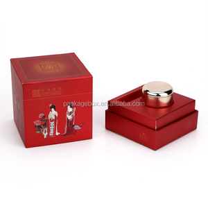 paper box for 5G-200G PP/PET/PS/Acrylic face/body cream jars plastic massage cream jar box mason lotion container with caps box