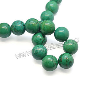 Natural turquoise 22mm round beads new products on china market