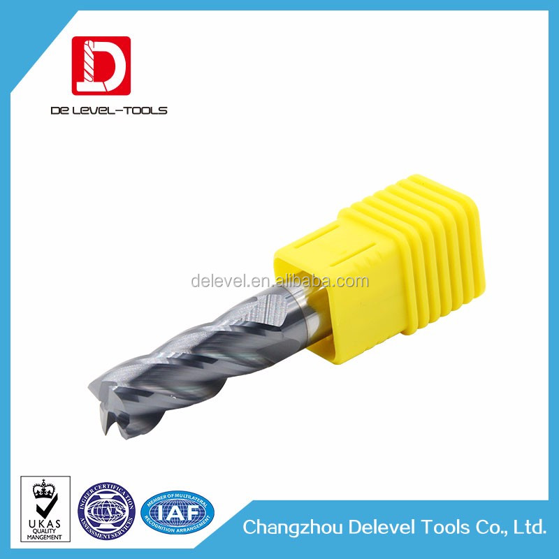 Uncoated CNC Acrylic / Plastic Cutting Tool Sets / Micro Grain Carving Tool For Plastic Acrylic