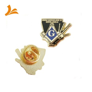 Free samples epola masonic lapel pin badge with gun logo