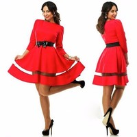 2016 latest fashion long sleeve designer dresses ,casual ladies western design formal plus size dress