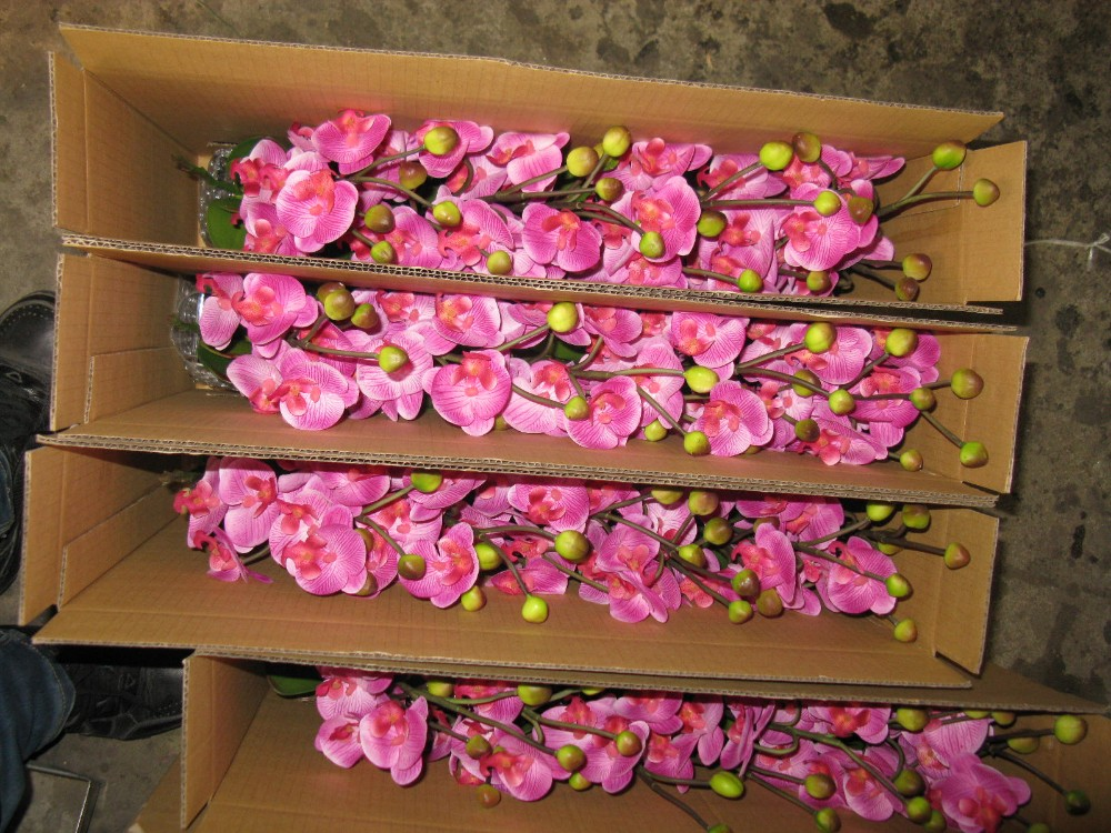 Hot Sale Artificial Phalaenopsis Orchid Flower, Factory Direct