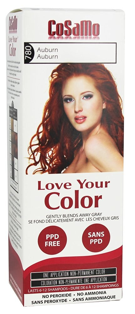 CoSaMo - Love Your Color Non Permanent Hair Color 780 Auburn - 3 oz NEW PACKAGING Like Clairol , L'Oreal , Garnier , John Frieda , Nice n Easy , Revlon haircolor ... No PPD or No Ammonia ! Paraben FREE ! PPD FREE ! No Peroxide ! Peroxide Free ! #1 RATED BEST HAIR COLOR ! Most Popular Haircolor !
