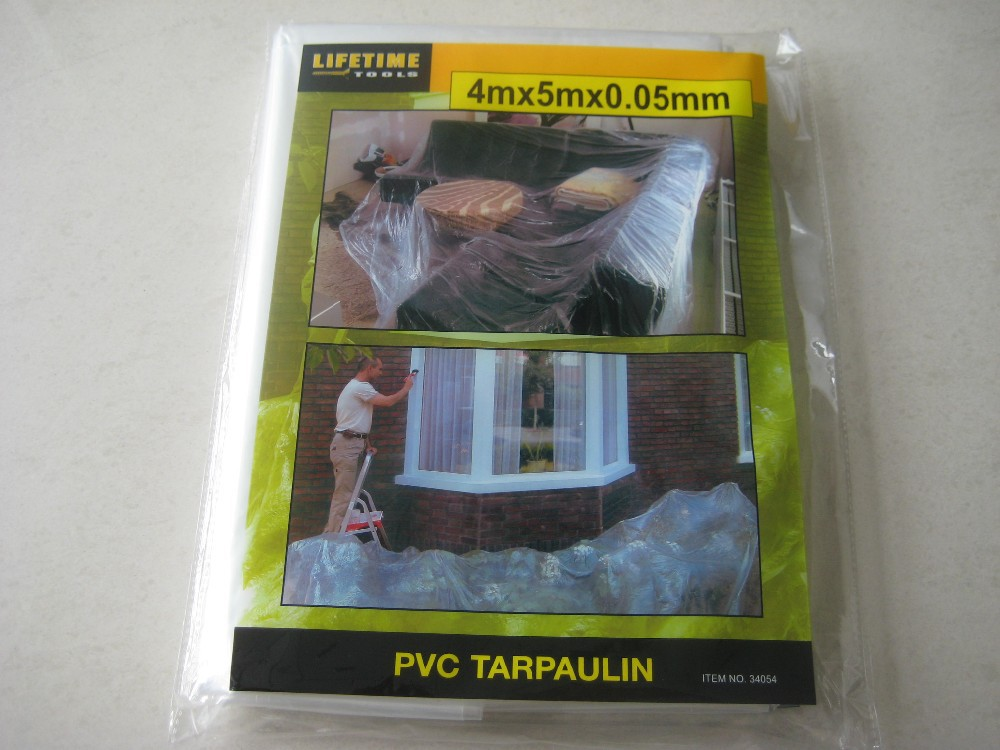 ldpe clear plastic drop cloth made for dust proof or painting