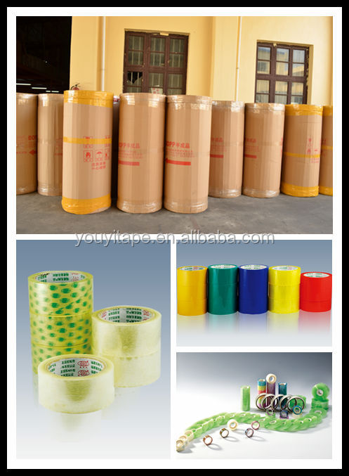 980mm 35mic yellowish tape jumbo roll
