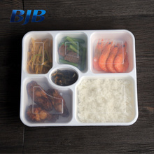 new design eco friendly 5 compartment bento box container with lid
