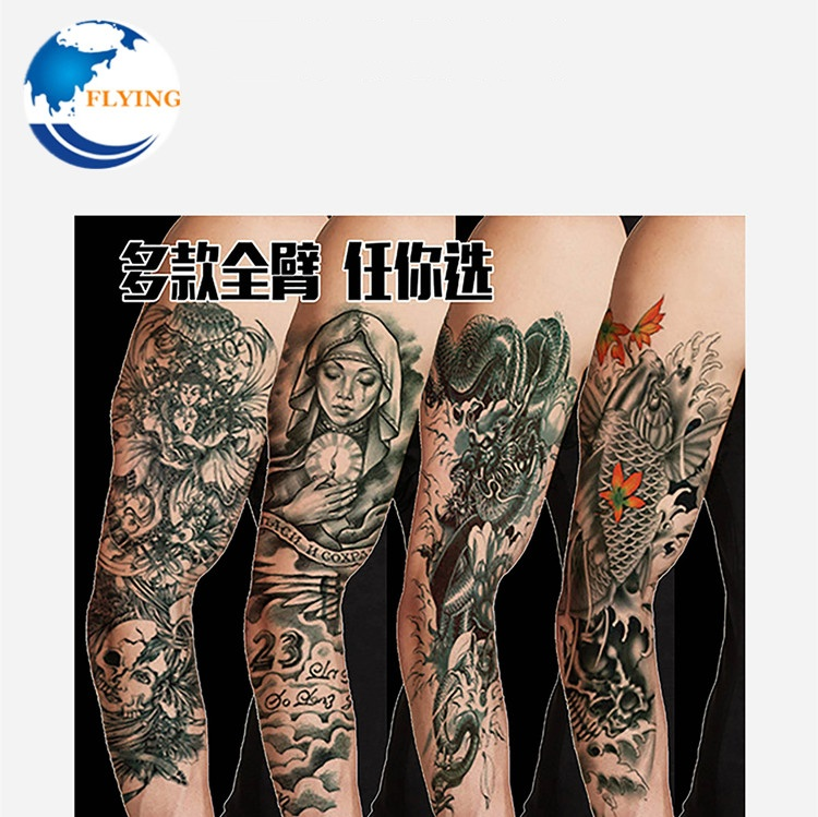 Waterproof Tattoo Stickers Half Sleeve Leg Temporary Fake Tattoos Lotus Watercolor Women Body Art Flower Arm Shoulder Decoration Firm In Structure Temporary Tattoos