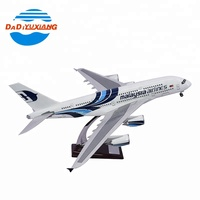 380 led plane plastic high simulation toy airplane model for kids