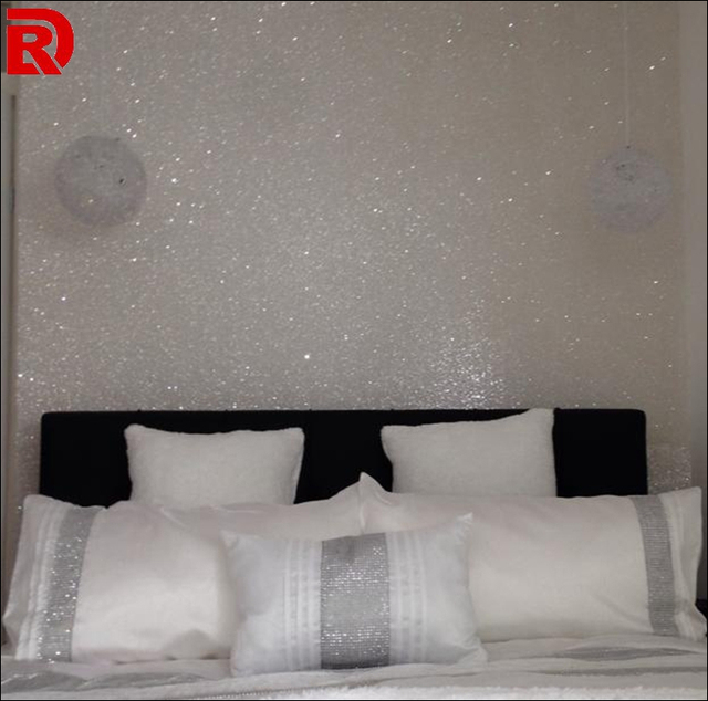 Silver And White Grade 3 Glitter Wallpaper And Wallpapers Buy