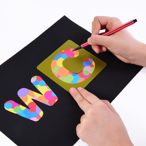 new design kids drawing laser cut metal DIY alphabet letter laser cut template