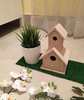 Unfinished Wood Natural Bird House