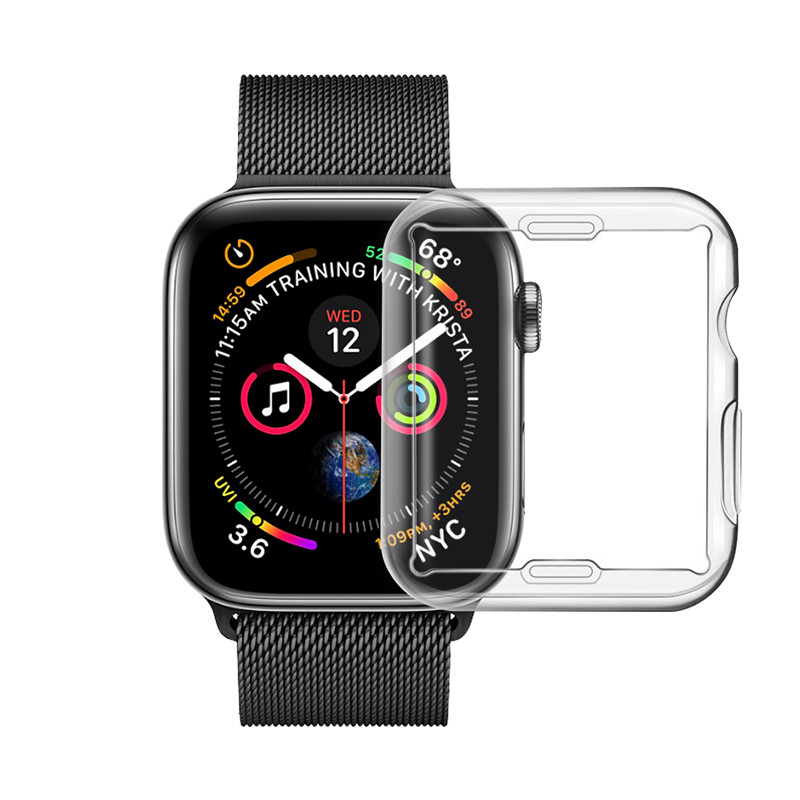 40mm 44mm full cover Soft TPU Case Cover for Apple Watch Series 4 Protective Cases
