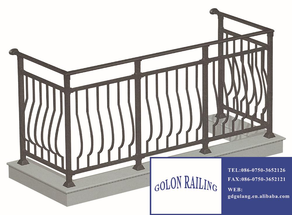 Modern design ms square pipe balcony railing, View balcony ...