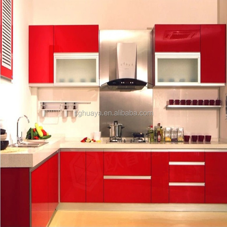 Kitchen Cabinet Color Combinations Plywood Modern Cabinets Round Peach Product On Alibaba