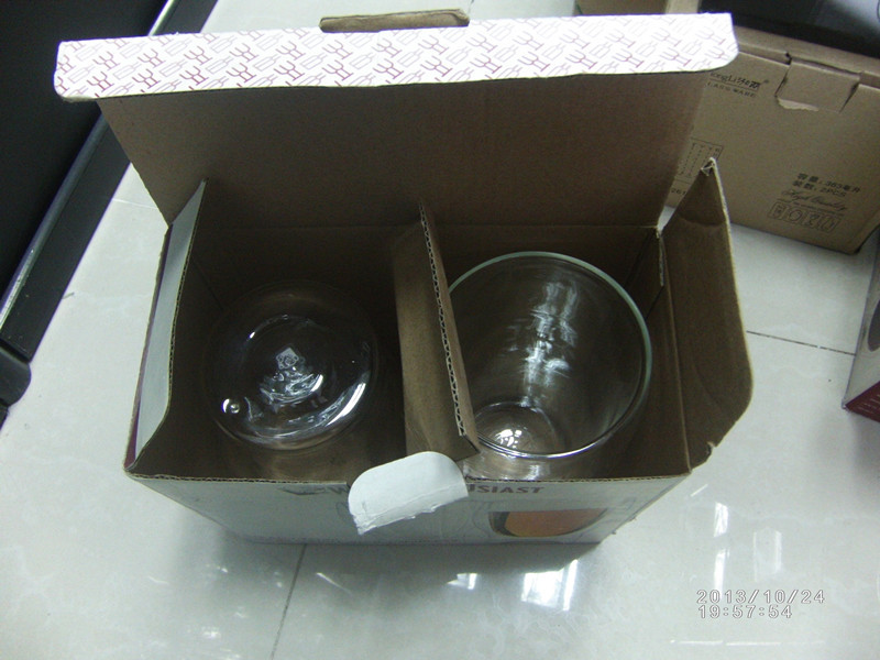 borosilicate glass water coffee mug with gift box
