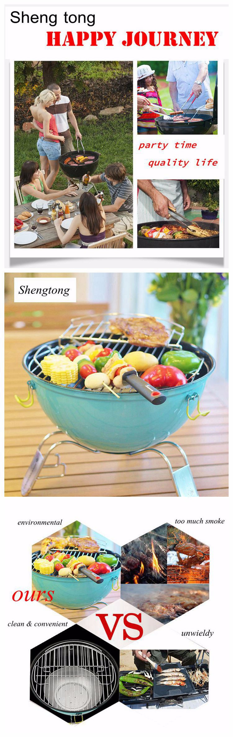 Mini ball shaped smokeless charcoal bbq grill Portable outdoor balcony bbq grill