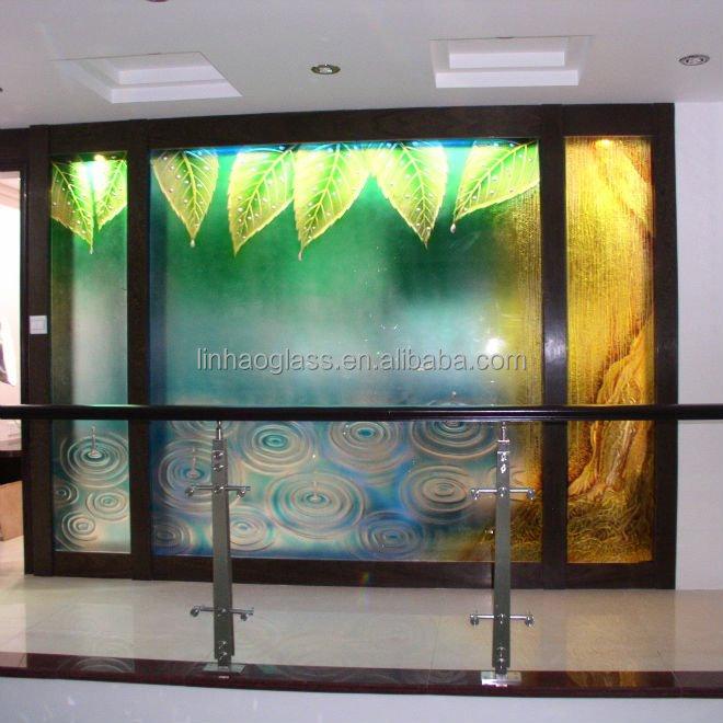 Moderno porta in vetro decorativo, divisorio di arte, porta ...