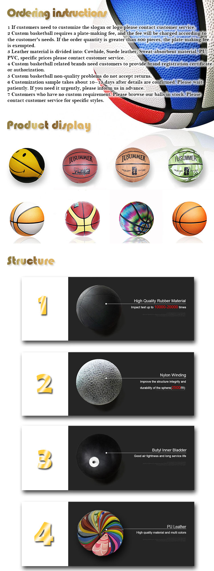 Wholesale Custom Basketball is More Durable than Leather Basketball