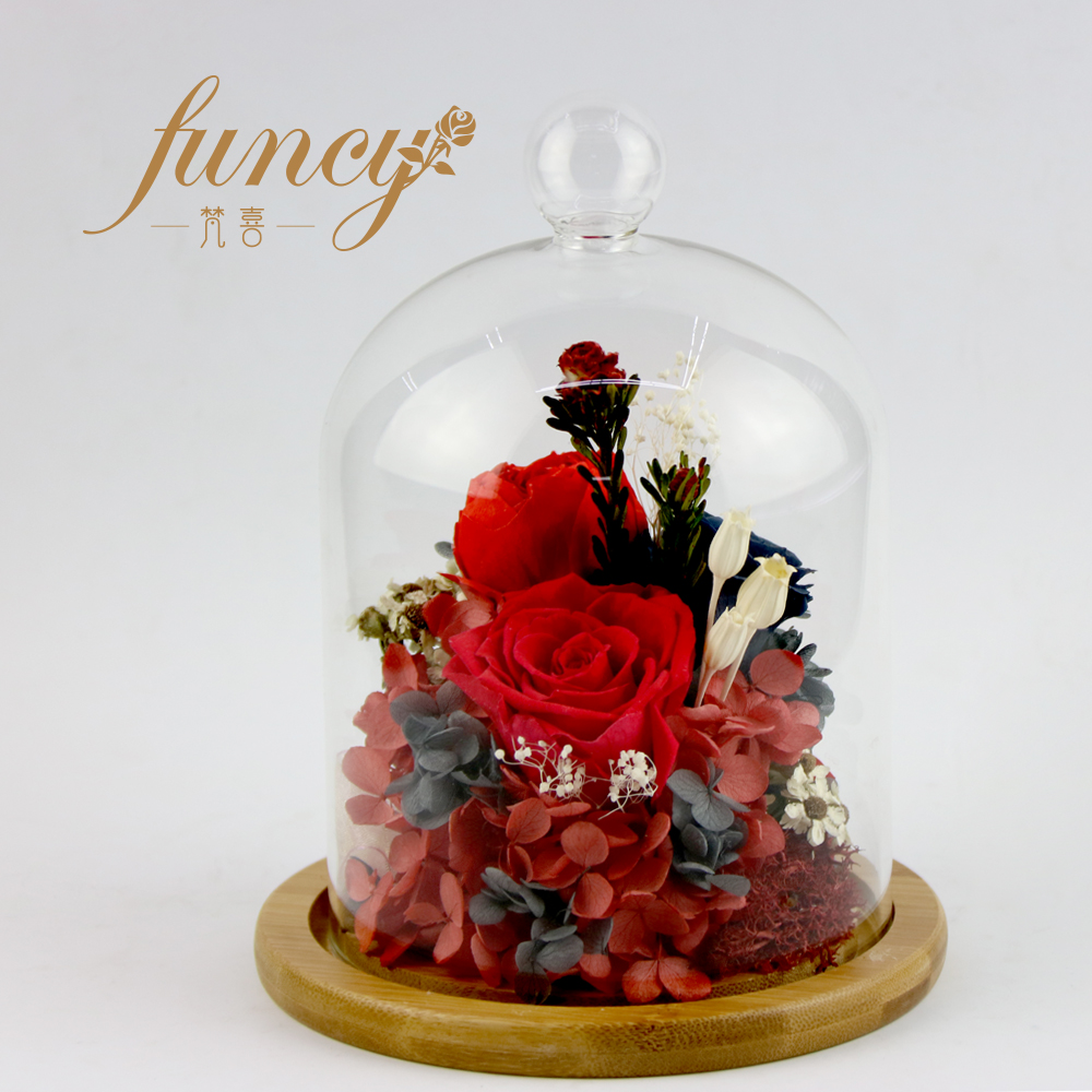 Preserved Natural Forever Roses Flowers In Glass 2017 Best Happy