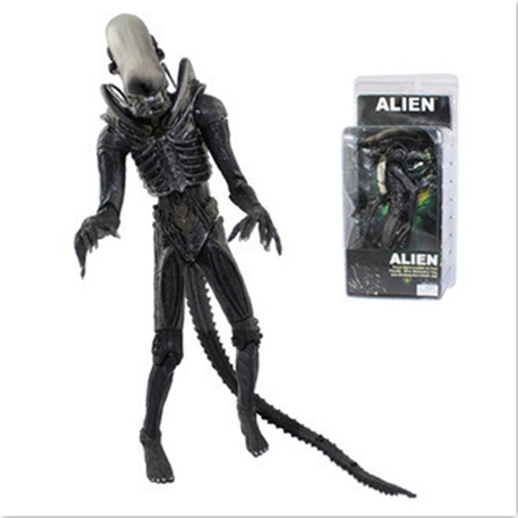 Wholesale NECA 7 inch alien transparent skull PVC action figuer