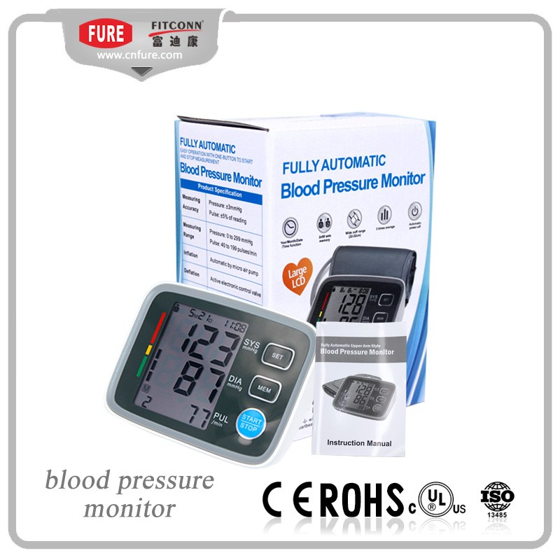 High quality and factory price digital arm blood pressure monitor with voice optional