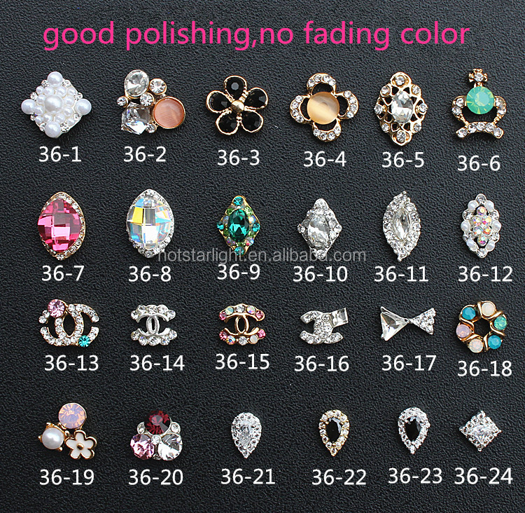 gold plating no fading color drop bow pearl big stone crown nail metal jewelry
