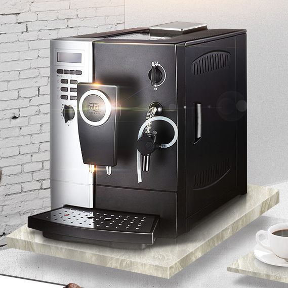 Black and sliver 2 languages cuppuccino full moka automatic coffee machine