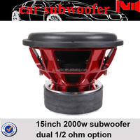 good price 12inch 2000w rms powered subwoofer car audio for sale