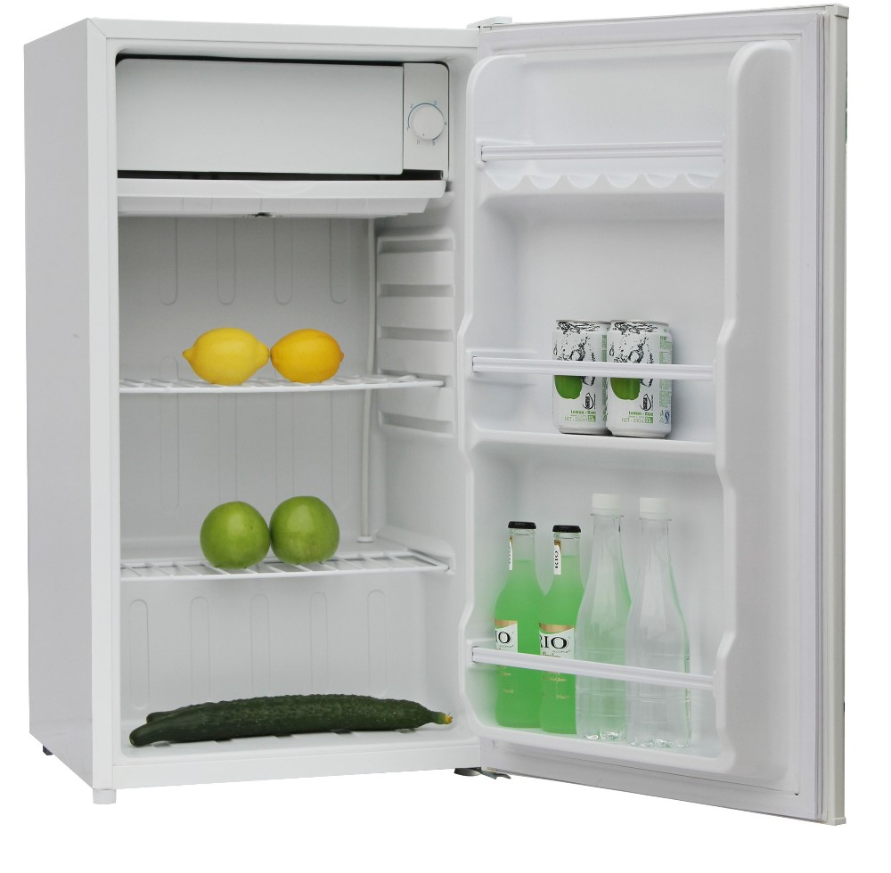 A White Color Home Single Door Refrigerator 90 Liter