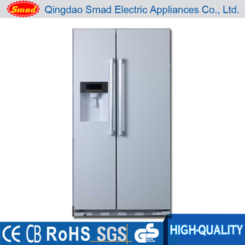 Colorful Side By Side No Frost Refrigerator With Water Dispenser And Ice  Maker