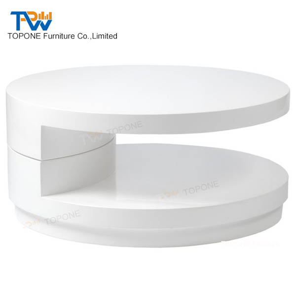 White Modern Design Marble Stone End Tea Table Coffee Table Tops Design