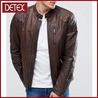 Motorcycle Distressed Models Mens Brown Leather Jacket