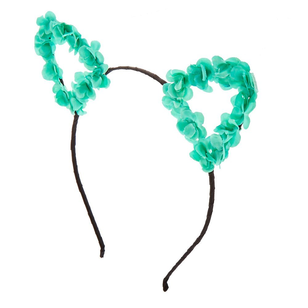 Buy Claires Accessories Mint Flower Cat Ears Black Headband in Cheap ... ceeaf66c1ac