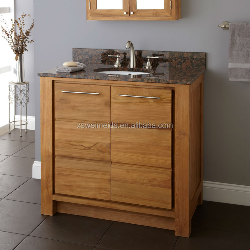 French Bathroom Vanity Cabinet Plastic Mirror Oak